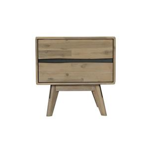 "CDI Furniture Orson Nightstand - 22"" x 22"" - Wood - Natural"