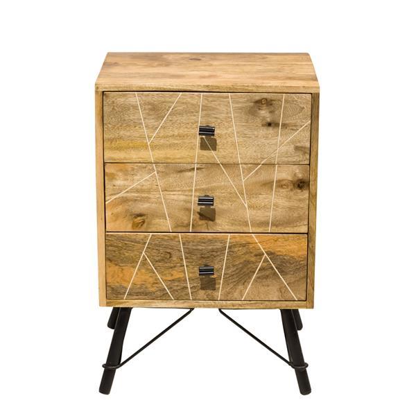 """Table de chevet Mosaic, 18"""" x 26"""", bois, naturel"""
