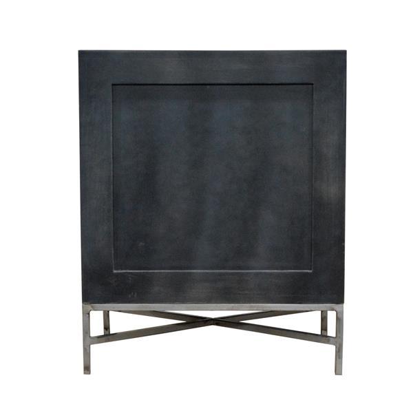 """Table de chevet Noche, 21,5"""" x 26,75"""", bois, noir"""