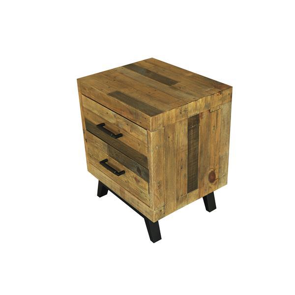 """Table de chevet Dixon, 22"""" x 26"""", bois, noir"""