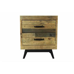 "CDI Furniture Dixon Nightstand - 22"" x 26"" - Wood - Black"