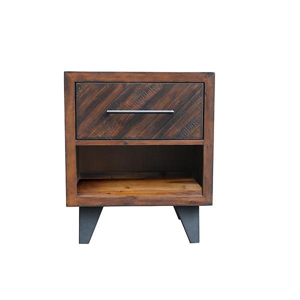 "CDI Furniture Avalon Nightstand - 22"" x 26"" - Wood - Tobacco"