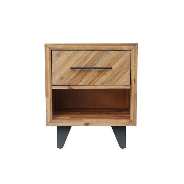 """Table de chevet Avalon, 22"""" x 26"""", bois, naturel"""