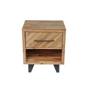 "CDI Furniture Avalon Nightstand - 22"" x 26"" - Wood - Natural"