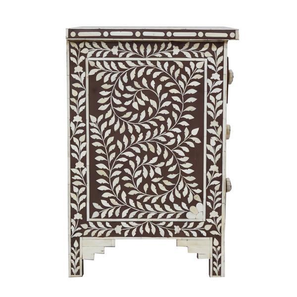 """Table de chevet Aida, 16"""" x 24"""", bois, brun"""