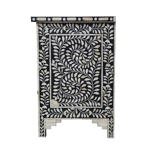 """Table de chevet Aida, 16"""" x 24"""", bois, noir"""