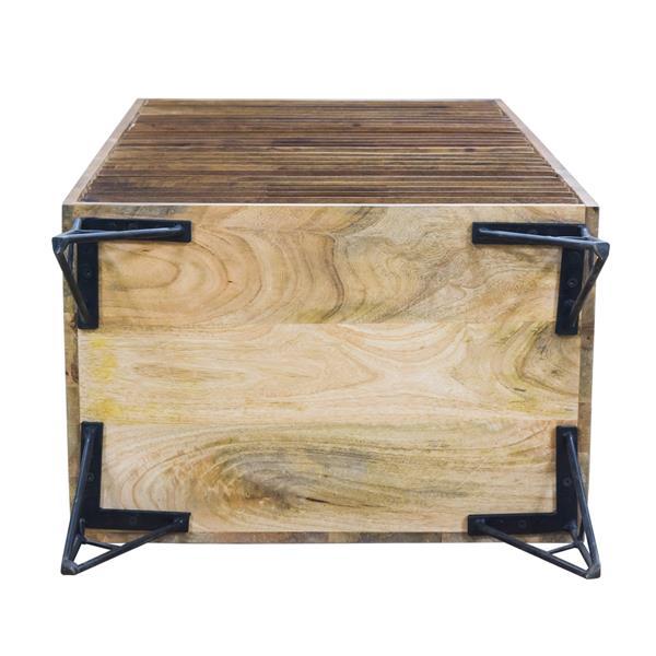 """CDI Furniture Shutter Chest - 16"""" x 48"""" - Wood - Beige"""