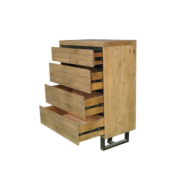 "CDI Furniture Praire Chest - 18"" x 48"" - Wood - Beige"