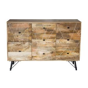 "CDI Furniture Mosaic Dresser - 63"" x 31"" - Wood - Natural"