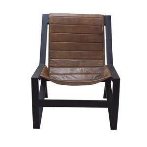"""Chaise Nevis, 31"""" x 32"""", cuir, brun"""