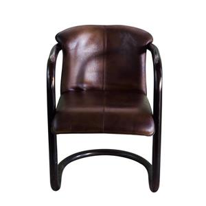 "CDI Furniture Nevis  Chair - 24"" x 35"" - Leather - Black"