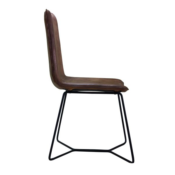 "CDI Furniture Nevis  Chair - 18"" x 36"" - Leather - Brown"