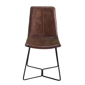 """Chaise Nevis, 18"""" x 36"""", cuir, brun"""