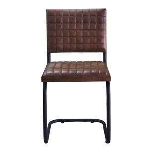 """Chaise Nevis, 21"""" x 35"""", cuir, brun"""