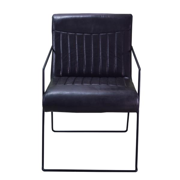 """Nevis  Chair - 28"""" x 31"""" - Leather - Black"""