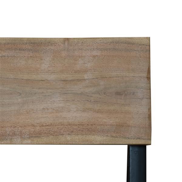 "Tundra Chair - 18"" x 40"" - Metal - Brown - Set of 2"