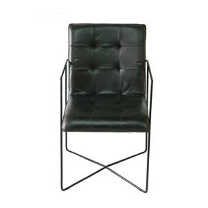 "CDI Furniture Nevis  Chair - 22.8"" x 35"" - Leather - Black"
