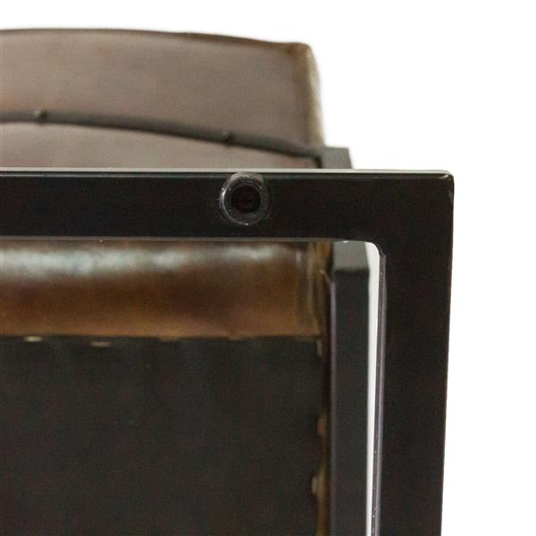 """CDI Furniture Nevis  Chair - 24.5"""" x 34"""" - Leather - Brown"""