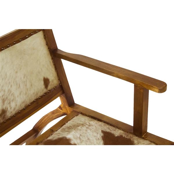 "Nevis  Chair - 20"" x 29.5"" - Leather - Beige"