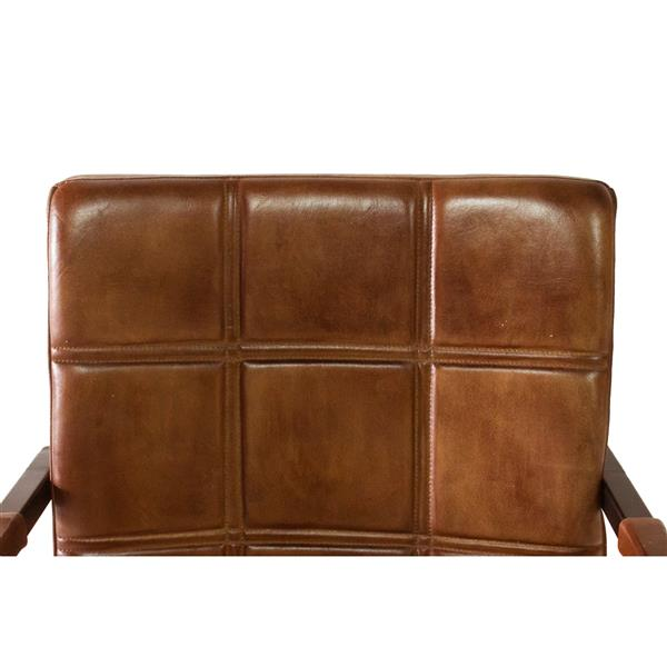 "Nevis  Chair - 20.5"" x 34.75"" - Leather - Brown"