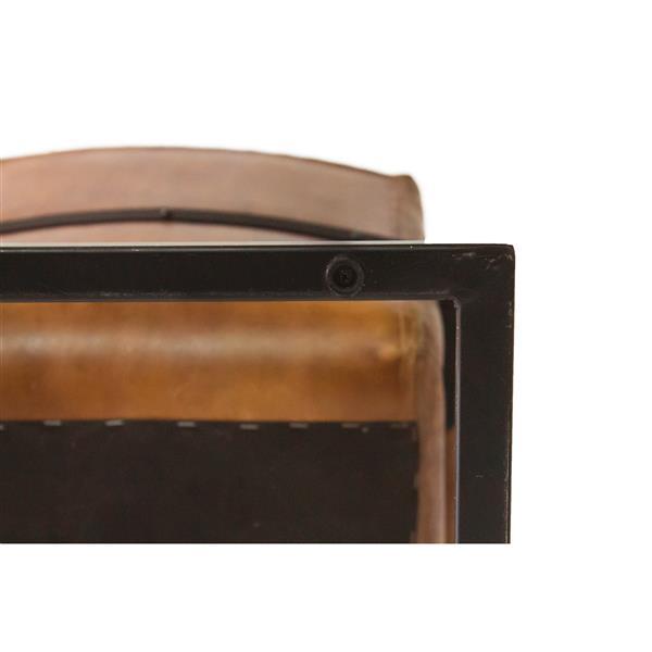 """Chaise Nevis, 20,5"""" x 34,75"""", cuir, brun"""