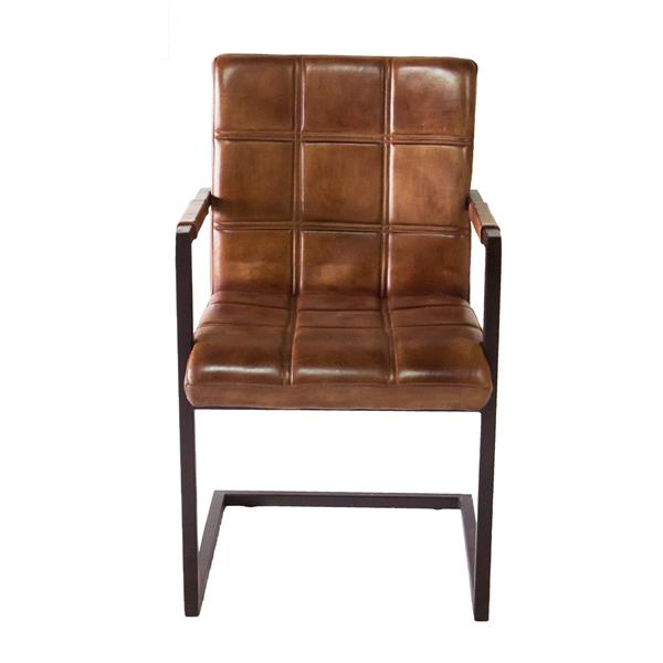 """CDI Furniture Nevis  Chair - 20.5"""" x 34.75"""" - Leather - Brown"""