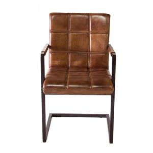 "CDI Furniture Nevis  Chair - 20.5"" x 34.75"" - Leather - Brown"