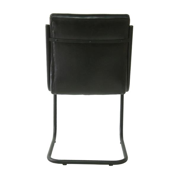 "Chaise Nevis, 22,5"" x 34,5"", cuir, noir"