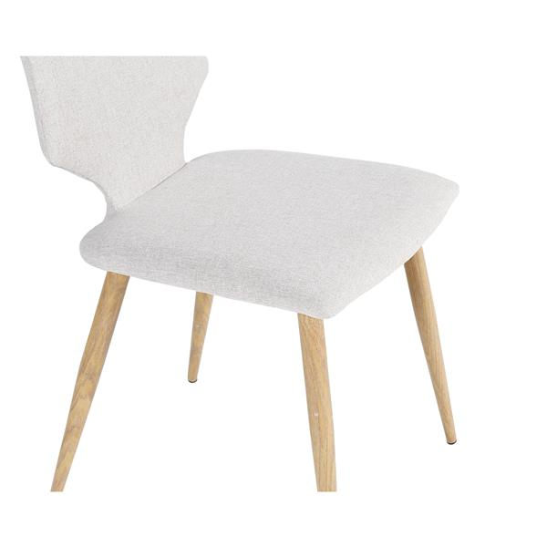 "Chaise Harper, 16,93"" x 33,07"", polyester, blanc"