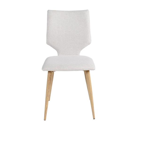 "CDI Furniture Harper  Chair - 16.93"" x 33.07"" - Polyester - White"