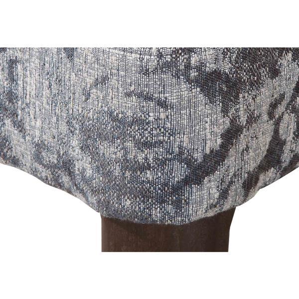 "Chaise Capri, 24"" x 34"", polyester, gris"