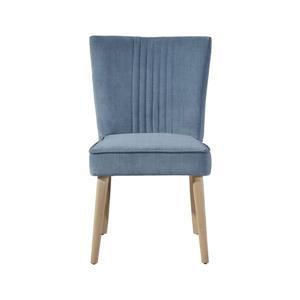 "Chaise Capri, 24"" x 34"", polyester, bleu"