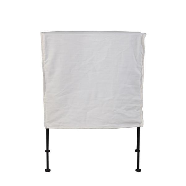 """Chaise Capri, 20"""" x 33"""", blanc"""