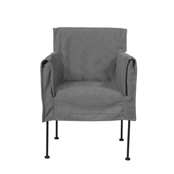 "CDI Furniture Capri  Chair - 20"" x 33"" - Gray"