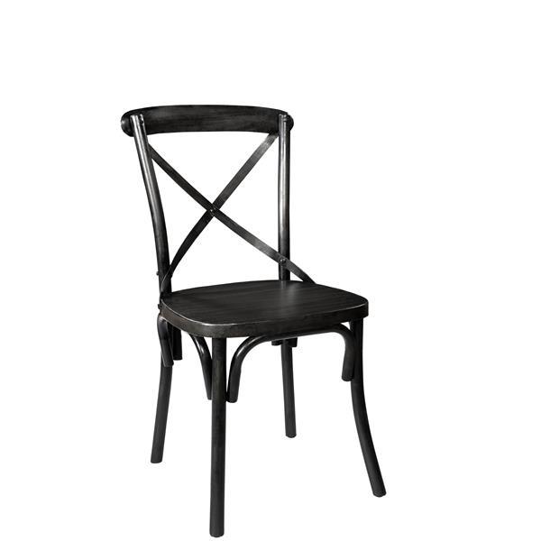 "Industrial  Chair - 18"" x 34"" - Black"