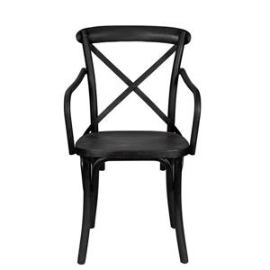 "Chaise Industrial, 18"" x 34"", métal, noir"