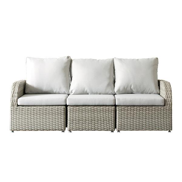 CorLiving Wicker Patio Set - 3 Pieces - Grey