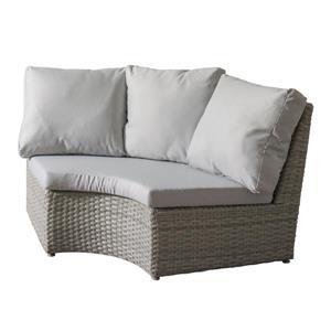 CorLiving Wicker Corner Patio Chair