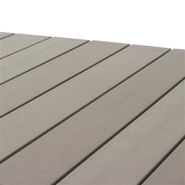 Table basse carrée de patio, gris