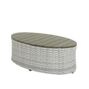 Table basse ovale de patio, gris