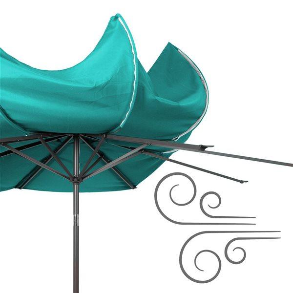 CorLiving UV and W-d Resistant Tilt-g Patio Umbrella