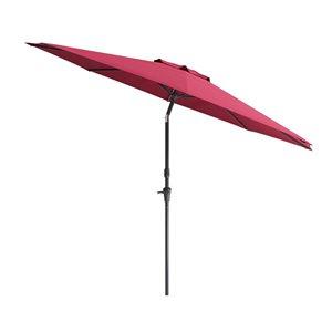 Parasol inclinable résistant aux rayons UV et au vent