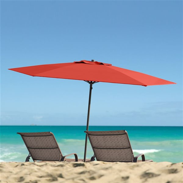 CorLiving UV and W-d Resistant Patio Umbrella - Red