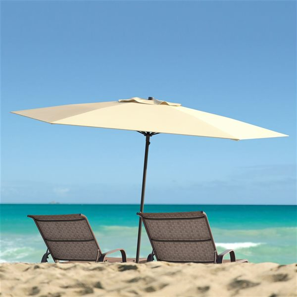 CorLiving UV and W-d Resistant Patio Umbrella - Warm White