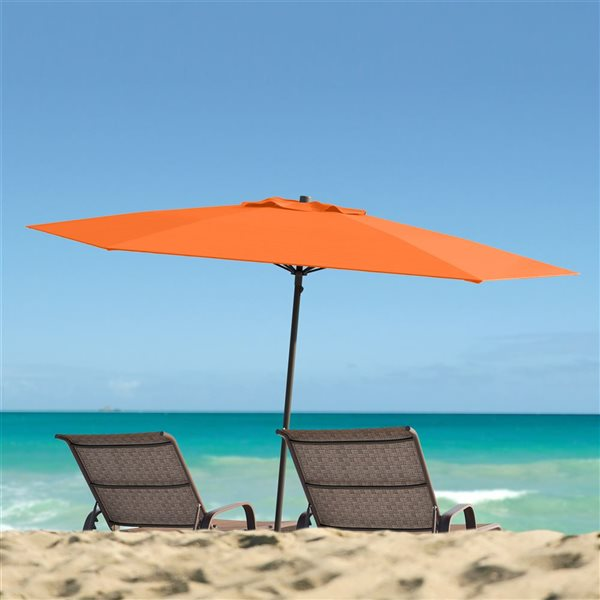 CorLiving UV and W-d Resistant Patio Umbrella - Orange