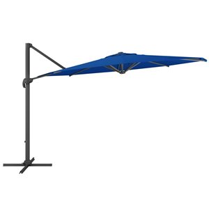 CorLiving Deluxe Offset Patio Umbrella - Cobalt Blue