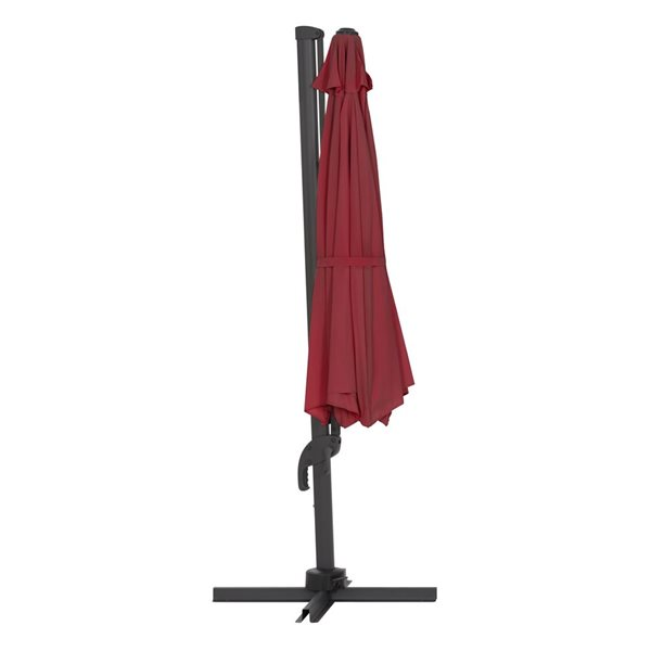 Parasol excentré vin rouge de luxe pour la terrasse