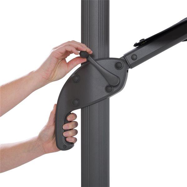 Parasol excentré bleu turquoise de luxe pour la terrasse