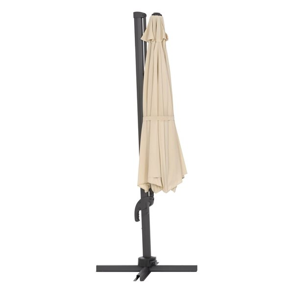 CorLiving Deluxe Offset Patio Umbrella - Warm White