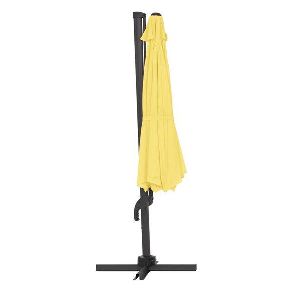 Parasol excentré jaune de luxe pour la terrasse